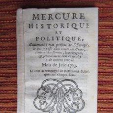 Libros antiguos: 1703-GUERRA SUCESIÓN ESPAÑA.FELIPE .CARLOS AUSTRIA.RETIRO MADRID,PORTOCARRERO.DUQUE PASTRANA,VELASCO. Lote 57909998