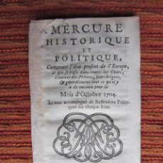 Libros antiguos: 1703-GUERRA SUCESIÓN ESPAÑA.FELIPE V.CARLOS AUSTRIA.MARQUÉS VILLADARIAS,AITONA,MÁLAGA,BADAJOZ . Lote 57910315