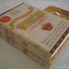 Libros antiguos: WILLIAM HARRISON AINSWRTH. WINSOR REAL CASTILLO. 2 TOMOS. 1A EDICIÓN.. Lote 58101355