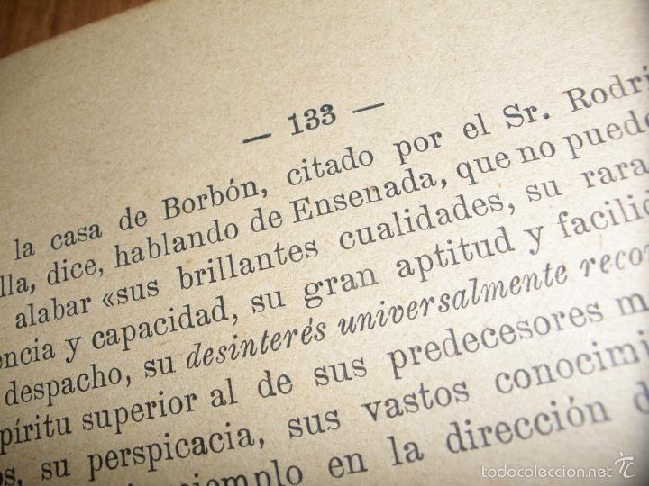 Libros antiguos: EL MARQUES DE LA ENSENADA - ESTUDIOS SOBRE SU ADMINISTRACION - 1898 - Foto 5 - 58380189