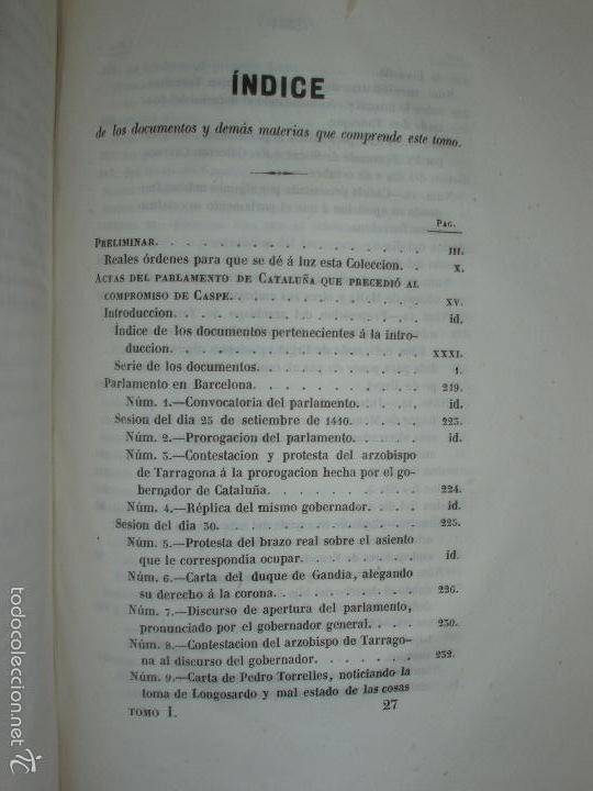 Libros antiguos: COMPROMISO DE CASPE. POR EL ARCHIVERO MAYOR D. PRÓSPERO DE BOFARULL Y MASCARÓ. 1º EDICIÓN 1847 - Foto 3 - 58596315
