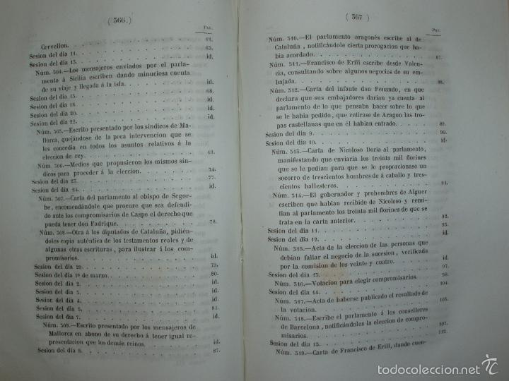 Libros antiguos: COMPROMISO DE CASPE. POR EL ARCHIVERO MAYOR D. PRÓSPERO DE BOFARULL Y MASCARÓ. 1º EDICIÓN 1847 - Foto 26 - 58596315