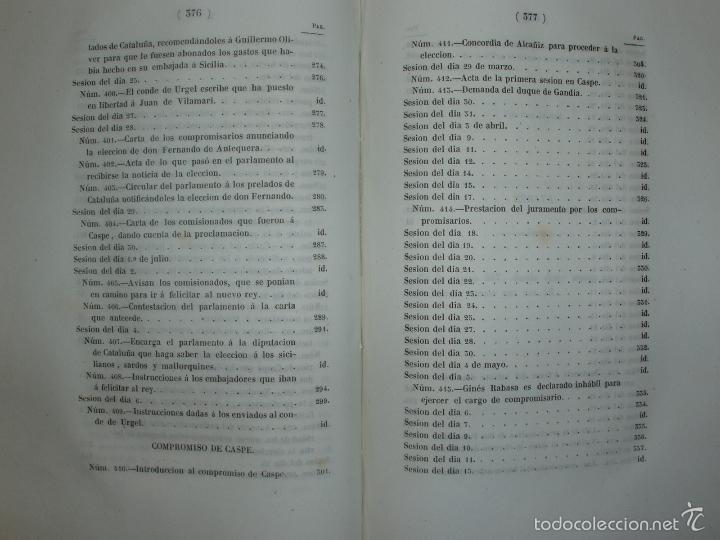 Libros antiguos: COMPROMISO DE CASPE. POR EL ARCHIVERO MAYOR D. PRÓSPERO DE BOFARULL Y MASCARÓ. 1º EDICIÓN 1847 - Foto 31 - 58596315