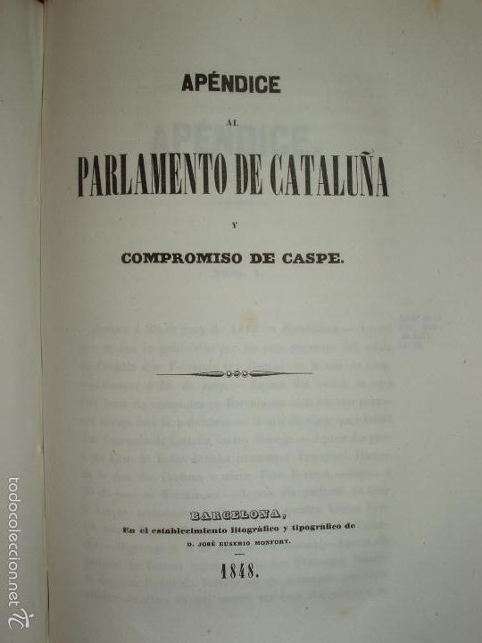 Libros antiguos: COMPROMISO DE CASPE. POR EL ARCHIVERO MAYOR D. PRÓSPERO DE BOFARULL Y MASCARÓ. 1º EDICIÓN 1847 - Foto 33 - 58596315