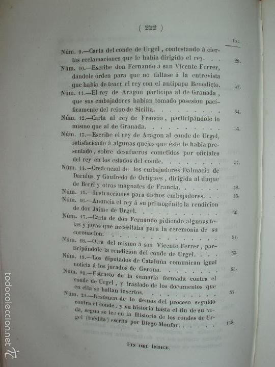 Libros antiguos: COMPROMISO DE CASPE. POR EL ARCHIVERO MAYOR D. PRÓSPERO DE BOFARULL Y MASCARÓ. 1º EDICIÓN 1847 - Foto 35 - 58596315
