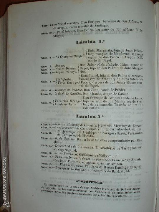 Libros antiguos: COMPROMISO DE CASPE. POR EL ARCHIVERO MAYOR D. PRÓSPERO DE BOFARULL Y MASCARÓ. 1º EDICIÓN 1847 - Foto 38 - 58596315