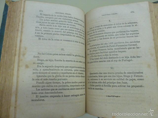Libros antiguos: Cristóbal Colon. Descubrimiento de las Américas por M. Alfonso de Lamartine. Tomo III. 1868 - Foto 4 - 58638171