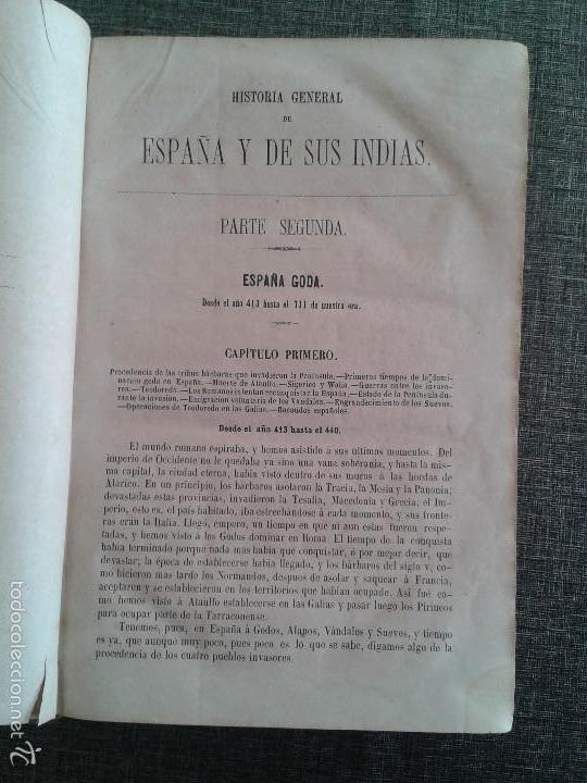 Libros antiguos: HISTORIA GENERAL DE ESPAÑA Y DE SUS INDIAS. LIBRO OBRA DE VICTOR GEBHARDT, TOMO SEGUNDO (1865) - Foto 2 - 60372171