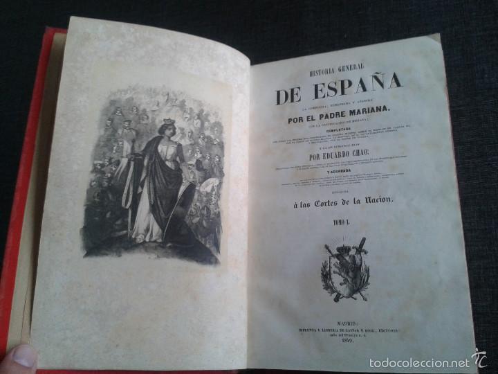 Libros antiguos: HISTORIA GENERAL DE ESPAÑA (1849) - LIBRO AMPLIAMENTE ILUSTRADO - TOMO I - Foto 2 - 60460539