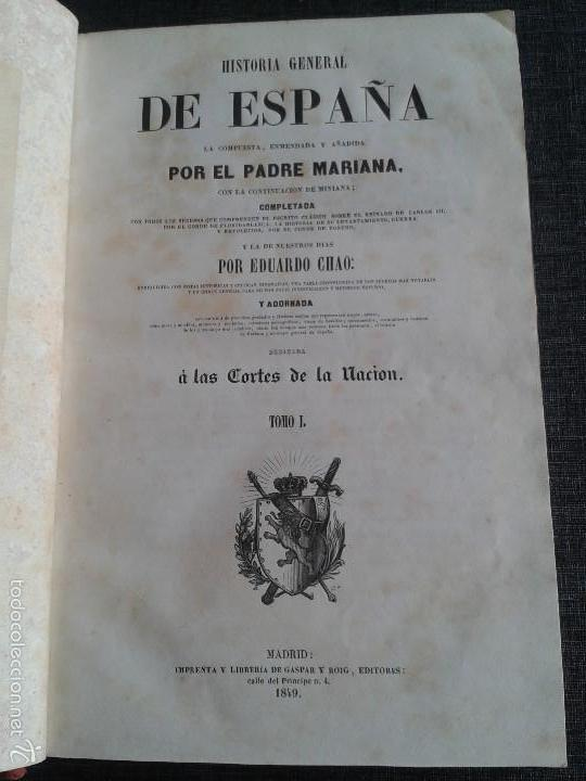 Libros antiguos: HISTORIA GENERAL DE ESPAÑA (1849) - LIBRO AMPLIAMENTE ILUSTRADO - TOMO I - Foto 3 - 60460539