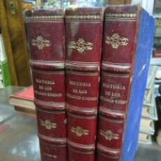 Libros antiguos: HISTORIA DE LOS ESTADOS UNIDOS POR J.A.SPENCER 1868 MONTANER Y SIMON EDITORES 3 TOMOS. Lote 61015907