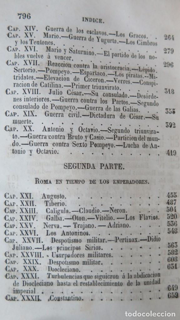 Libros antiguos: 1844.- MANUAL DE HISTORIA ROMANA. DESDE SU FUNDACION ROMANA HASTA LA CAIDA DEL IMPERIO DE OCCIDENTE - Foto 7 - 61692828
