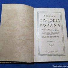 Libros antiguos: ANTIGUO Y RARO LIBRO HISTORIA DE ESPAÑA, POR RAFAEL MONTES DÍAZ. AÑO 1925. 373 PÁGINAS. Lote 61982444