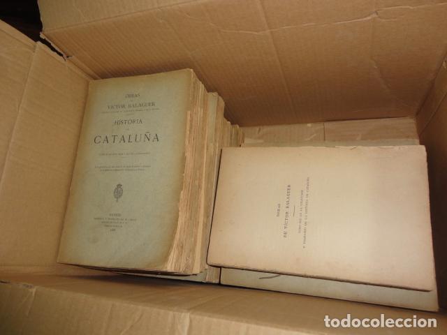 Libros antiguos: Historia de Cataluña 11 tomos Victor Balaguer 1885 - 1887 - Imprenta y fundicion M. Tello Madrid - Foto 11 - 62531624
