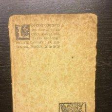 Libros antiguos: LOS CENT CONCEYLS DEL CONCEYL DE CENT, AMB LA PREGARIA DELS SEPT PECCATZ CAPTALS E LA LHETRA DEL DEN. Lote 62658684