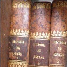 Libros antiguos: JUAN DE MARIANA.HISTORIA GENERAL DE ESPAÑA,COMPLETA III VOL.1852-53,ENCUADERNACION PIEL 250 GRABADOS. Lote 51487585