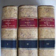 Libros antiguos: MANUAL DE HISTORIA DE ESPAÑA. PEDRO AGUADO BLEYE.. Lote 64925271