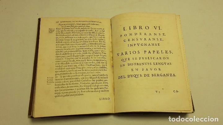 Libros antiguos: RESPUESTA AL MANIFIESTO DEL REYNO DE PORTUGAL. JUAN CARAMUEL LOBKOVVITZ 1642. - Foto 7 - 65774854