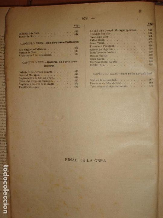 Libros antiguos: MUY ANTIGUO LIBRO DE SORT Y COMARCA NOGUERA PALLARESA. POR AGUSTIN COY. - Foto 6 - 66941482