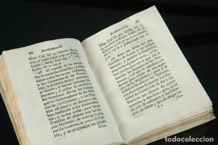 Libros antiguos: COMPENDIO DE LAS ANTIGÜEDADES ROMANAS - TRADUCIDAS POR D. FRANCISCO PÉREZ PASTOR - MADRID 1771 - Foto 4 - 67963229