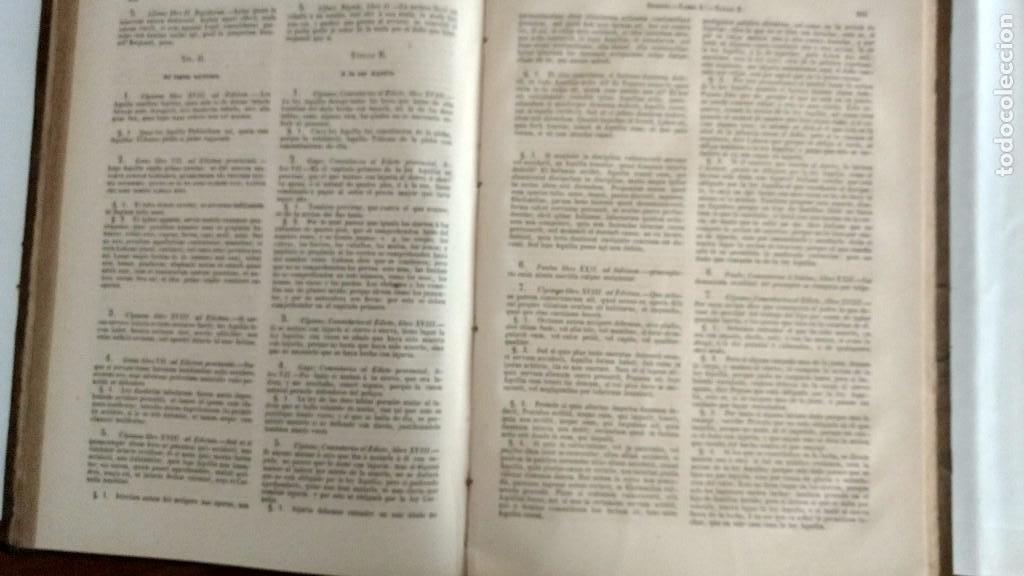 Libros antiguos: EL DIGESTO DEL EMPERADOR JUSTINIANO EN CASTELLANO Y LATÍN. B. A. RODRÍGUEZ DE FONSECA. - Foto 3 - 68138429