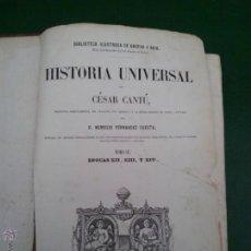Libros antiguos: HISTORIA UNIVERSAL CÉSAR CANTÚ. TOMOP IV. AÑO 1856. Lote 52396018