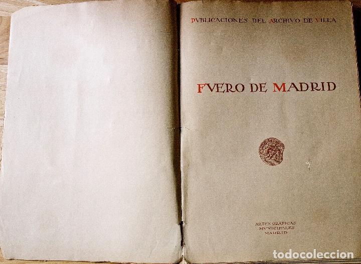 Libros antiguos: FUERO DE MADRID. EDICIÓN AÑO 1932 - Foto 3 - 70329325