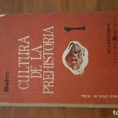 Libros antiguos: CULTURA DE LA PREHISTORIA. BEHN. TOMO I. 1961. . Lote 72855195