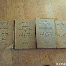 Libros antiguos: FONTES HISPANIAE ANTIQUAE (4 VOLUMENES) RARA, AGOTADA. Lote 95582892