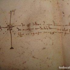 Libros antiguos: 1476. PERGAMINO. VILUEÑA (SEÑORÍO DE ILLUECA). VENTA DE VIÑAS A PEDRO PUJADAS ALCAIDE DE VIÑUELA,. Lote 76524539