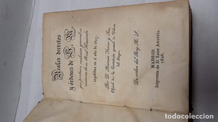 Libros antiguos: GUIA O ESTADO GENERAL DE LA REAL HACIENDA DE ESPAÑA, AÑO 1827 PARTE LEGISLATIVA. - Foto 3 - 76983369