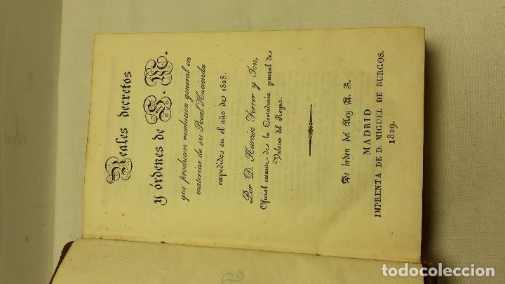 Libros antiguos: GUIA O ESTADO GENERAL DE LA REAL HACIENDA DE ESPAÑA, AÑO 1828 PARTE LEGISLATIVA. - Foto 3 - 76984109