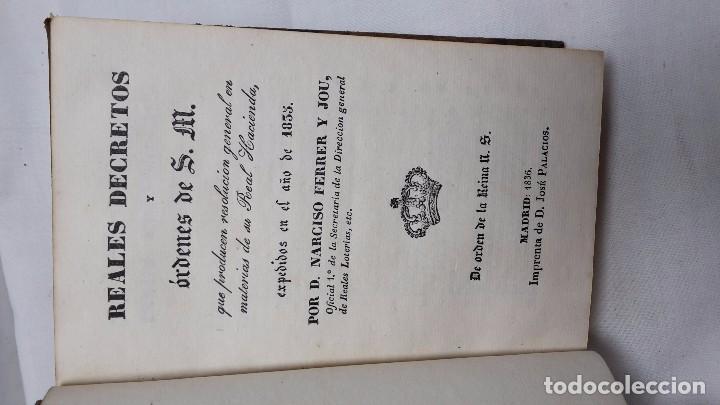 Libros antiguos: GUIA O ESTADO GENERAL DE LA REAL HACIENDA DE ESPAÑA, AÑO 1835 PARTE LEGISLATIVA. - Foto 3 - 76991745
