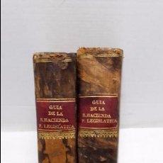 Libros antiguos: GUIA O ESTADO GENERAL DE LA REAL HACIENDA DE ESPAÑA, AÑO 1824 PARTE LEGISLATIVA. 2 TOMOS.. Lote 76981785