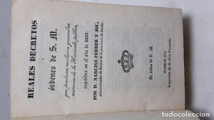 Libros antiguos: GUIA O ESTADO GENERAL DE LA REAL HACIENDA DE ESPAÑA, AÑO 1857 PARTE LEGISLATIVA. - Foto 3 - 77054885