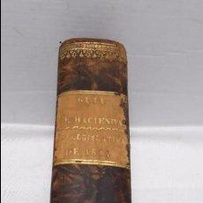 Libros antiguos: GUIA O ESTADO GENERAL DE LA REAL HACIENDA DE ESPAÑA, AÑO 1841 PARTE LEGISLATIVA. . Lote 77065501