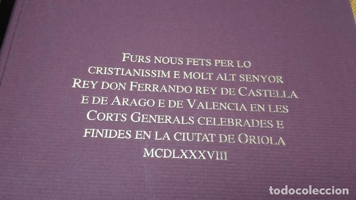 Libros antiguos: Furs D'Oriola - Foto 2 - 80802723