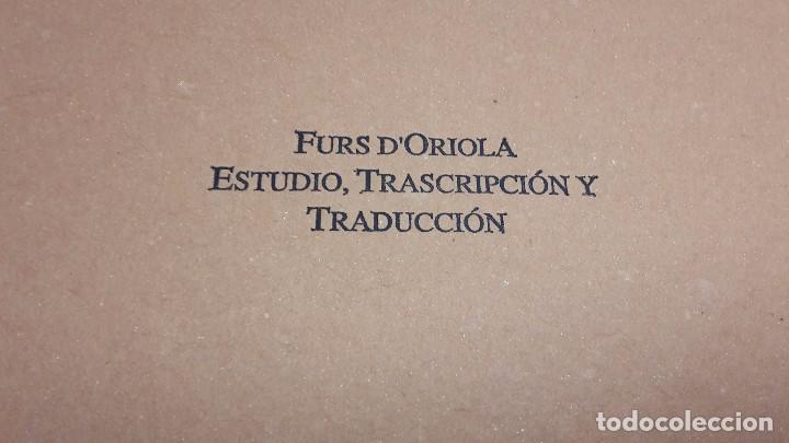 Libros antiguos: Furs D'Oriola - Foto 3 - 80802723