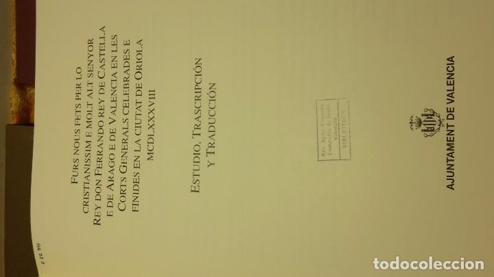Libros antiguos: Furs D'Oriola - Foto 9 - 80802723
