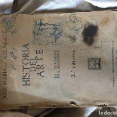 Libros antiguos: HISTORIA DEL ARTE EN CUADROS ESQUEMATICOS 3º EDICIÓN. Lote 80896743
