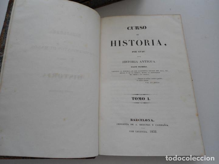 Libros antiguos: CURSO DE HISTORIA ANTIGUA - GUAY - Imp. BERGNES y Cia. - 1832 - 5 VOLUMENES - OBRA COMPLETA - RARA - Foto 5 - 82513736