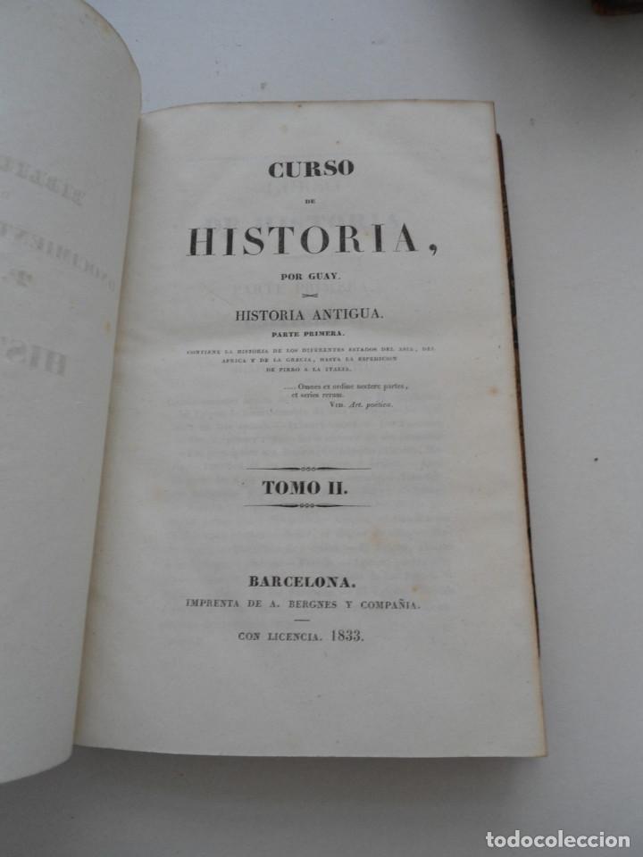 Libros antiguos: CURSO DE HISTORIA ANTIGUA - GUAY - Imp. BERGNES y Cia. - 1832 - 5 VOLUMENES - OBRA COMPLETA - RARA - Foto 9 - 82513736
