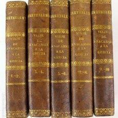 Libros antiguos: L-3548. VIAJE DE ANACARSIS A LA GRECIA. 5 TOMOS CON 10 PARTES COMPLETAS. MADRID 1847.. Lote 84625864