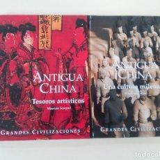 Libros antiguos: ANTIGUA CHINA-TESOROS ARTISTICOS/UNA CULTURA MILENARIA-M. SCARPARI-LOTE 2 TOMOS-ED. FOLIO-2008-TDURA. Lote 85750212