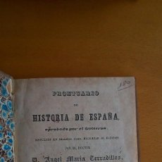 Alte Bücher - Prontuario de historia de España. Ángel María Terradillos1848. 2ª Edición - 86286676