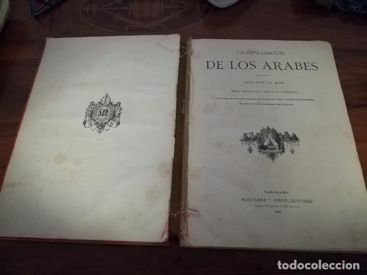 Libros antiguos: Libro la civilización de los árabes por Gustavo le Bon ilustrada con preciosos grabados año 1886 - Foto 7 - 86351780