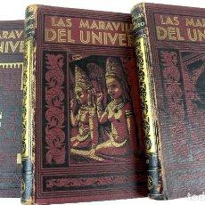 Libros antiguos: L-257. LAS MARAVILLAS DEL UNIVERSO. PUBLICADA POR J.G. GUIÑON. 3 TOMOS. EDIT. LABOR. AÑOS TREINTA.. Lote 86555348