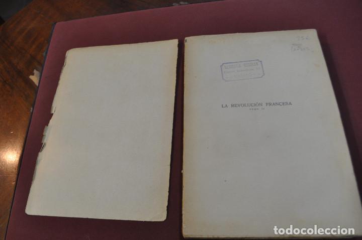 Libros antiguos: 3 tomos la revolucion francesa , historia de los girondinos años 30 , ejemplares intonsos - AHG - Foto 7 - 88604164
