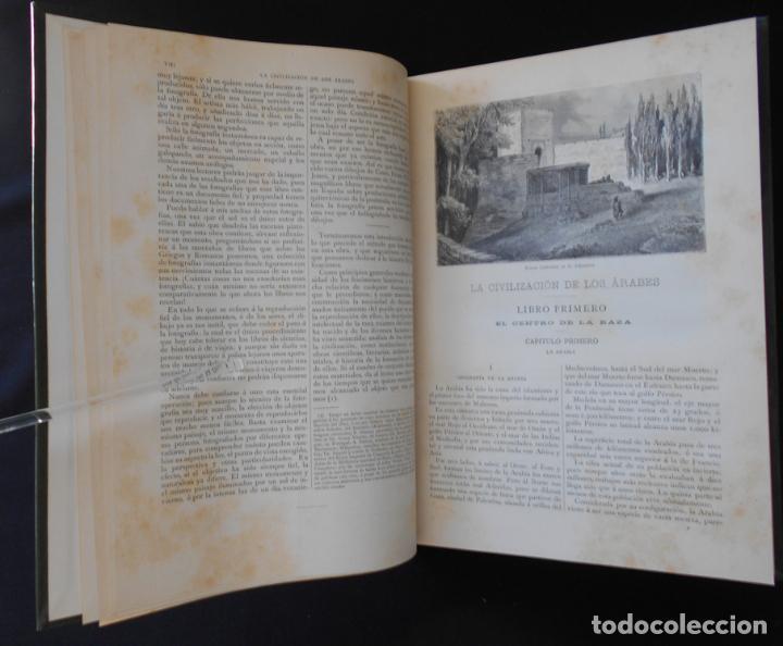 Libros antiguos: PCBROS - LA CIVILIZACIÓN DE LOS ÁRABES - GUSTAVO LE BON - ED. MONTANER Y SIMÓN EDITORES - 1886 - Foto 4 - 88886160