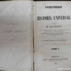 Libros antiguos: CORTADA, JUAN: COMPENDIO DE HISTORIA UNIVERSAL.. Lote 89232064